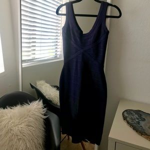 Herve Leger bandage dress. Small. Navy.